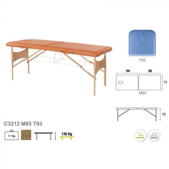Table de massage avec tendeurs Ecopostural hauteur fixe C3212