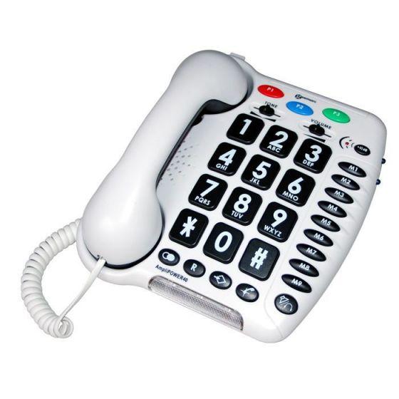 Téléphone amplifié Amplipower 40 Blanc Geemarc