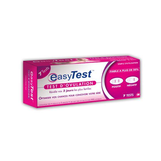 Test d'ovulation Easy Test Boîte de 7