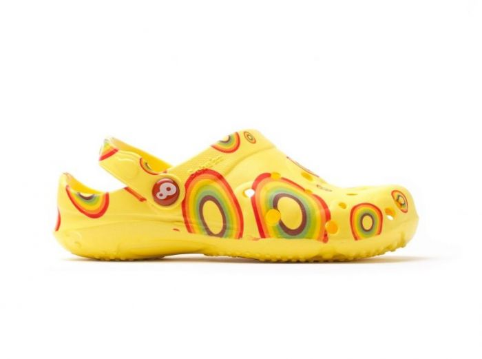 Sabots Schu'zz Globule enfant Rainbow jaune