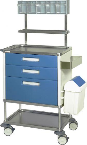 Chariot de soins et infirmerie 3 tiroirs Hidemar H 773 EP