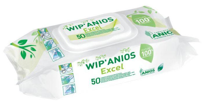 Lingettes désinfectantes Wip'Anios Excel sachet de 50