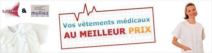 Blouse médicale Lafont et Mulliez, blouse médicale homme, blouse médicale femme
