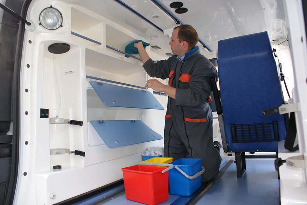nettoyage ambulance